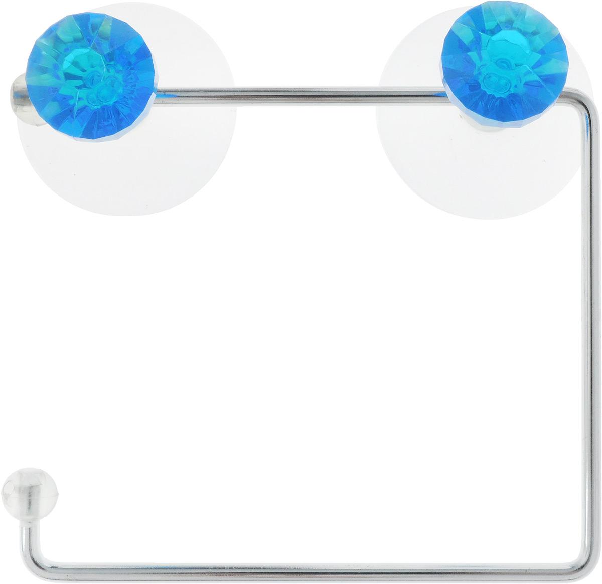 Держатель для туалетной бумаги Axentia Amica, на присосках, цвет: синий, стальной282032_синийДержатель для туалетной бумаги Axentia Amica изготовлен из высококачественной стали с хромированным покрытием, которое устойчиво к влажности и перепадам температуры. Держатель поможет оформить интерьер в выбранном стиле, разбавляя пространство туалетной комнаты различными элементами. Он хорошо впишется в любой интерьер, придавая ему черты современности. Для большего удобства изделие крепится к поверхностям с помощью двух присосок из поливинилхлорида (входят в комплект), что дает возможность при необходимости менять их месторасположение. Размер держателя: 14,5 см х 12,5 см х 4,5 см. Диаметр присоски: 5,5 см.
