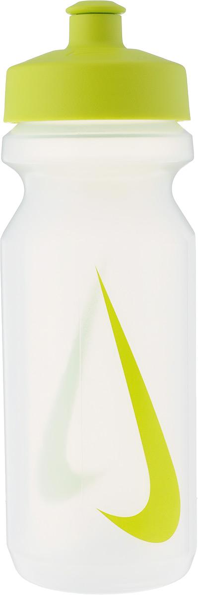 Бутылка для воды Nike Big Mouth Water Bottle, цвет: прозрачный, зеленый, 650 млN.OB.17.964.22Широкое отверстие позволяет удобно наливать коктейли и добавлять лед в бутылку. Просто открывающийся защитный колпачок. Широкая рельефная поверхность позволяет с лёгкостью потянуть за него и открыть бутылку. Нижняя часть конической формы позволяет легко помещать и вытаскивать бутылку из велосипедной сетки. Объём: 650мл. Высота: 21 см. Диаметр ( по верхнему краю): 6,5 см.