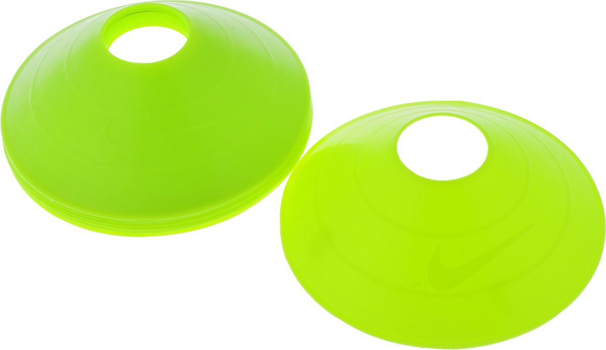 Тренировочные конусы Nike 10 Pack Training Cones Ns Volt, цвет: салатовый, 10 штN.SR.08.709.NSОдна упаковка содержит 10 конусов. Идеально подходят для спортивных тренировок. Имеют яркий, бросающийся в глаза, цвет.