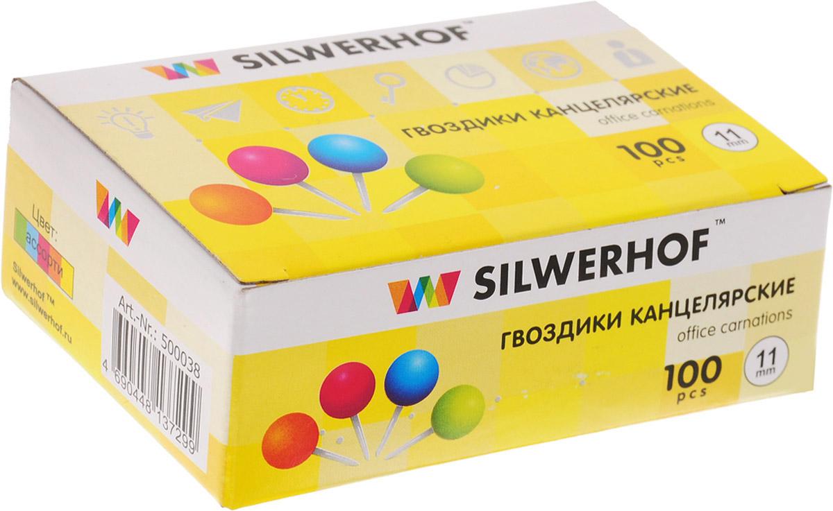 Silwerhof Кнопки канцелярские Гвоздики 100 шт 500038