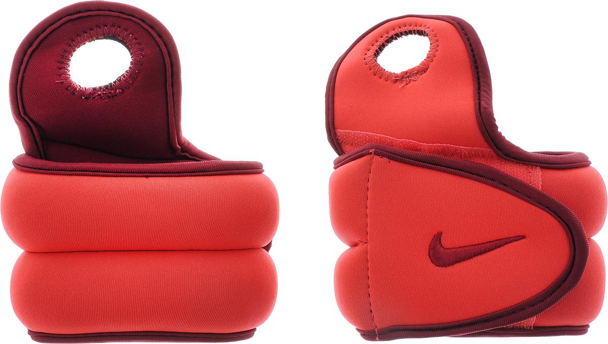 """Утяжелители для рук Nike """"Wrist Weights"""", цвет: красный, бордовый, 1,1 кг"""