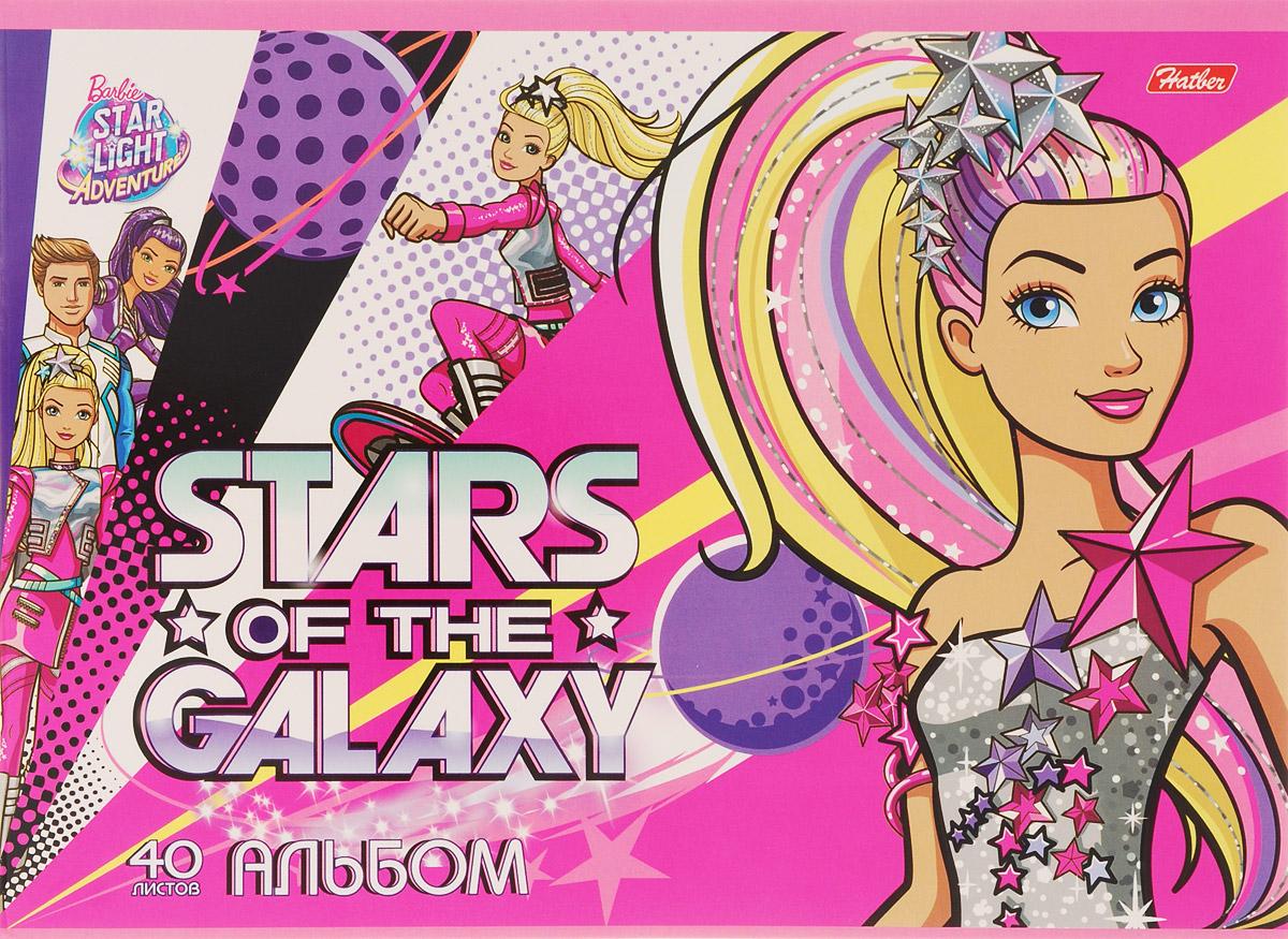 Hatber Альбом для рисования Barbie 40 листов 1573440А4B_15734Альбом для рисования Hatber Barbie порадует маленькую художницу и вдохновит ее на творчество. Альбом изготовлен из белоснежной бумаги с яркой обложкой из плотного картона. Внутренний блок альбома, соединенный двумя металлическими скрепками, состоит из 40 листов. Высокое качество бумаги позволяет рисовать в альбоме карандашами, фломастерами, акварельными и гуашевыми красками.