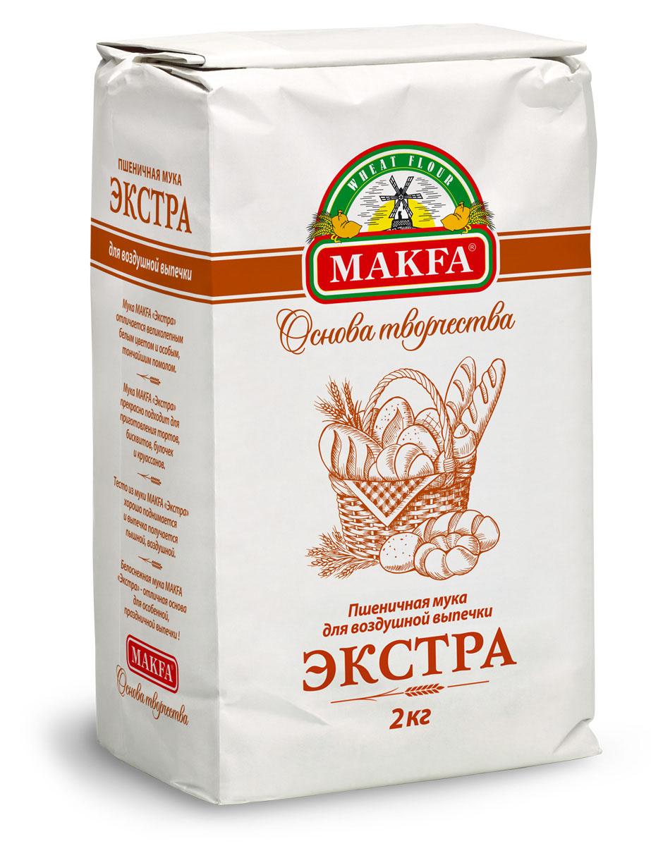 Makfa Экстра мука пшеничная, 2 кг 91039