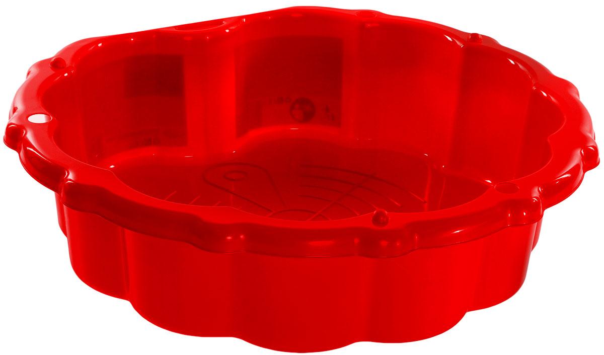 Mochtoys Песочница-бассейн с тентом цвет красный