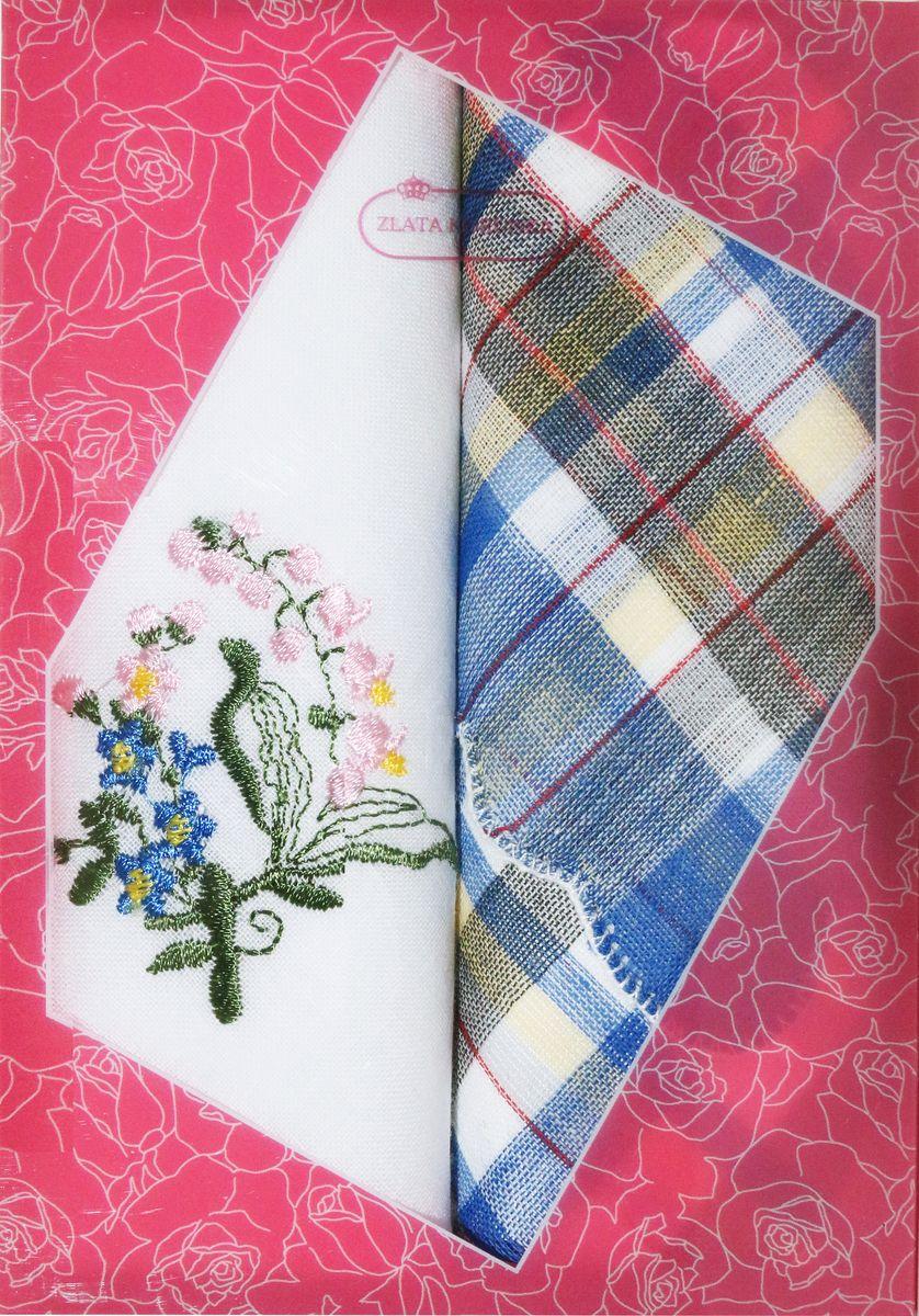 Платок носовой женский Zlata Korunka, цвет: мультиколор, 2 шт. 40222-12. Размер 29 см х 29 см40222-12Оригинальный женский носовой платок Zlata Korunka изготовлен из высококачественного натурального хлопка, благодаря чему приятен в использовании, хорошо стирается, не садится и отлично впитывает влагу. Практичный и изящный носовой платок будет незаменим в повседневной жизни любого современного человека. Такой платок послужит стильным аксессуаром и подчеркнет ваше превосходное чувство вкуса.
