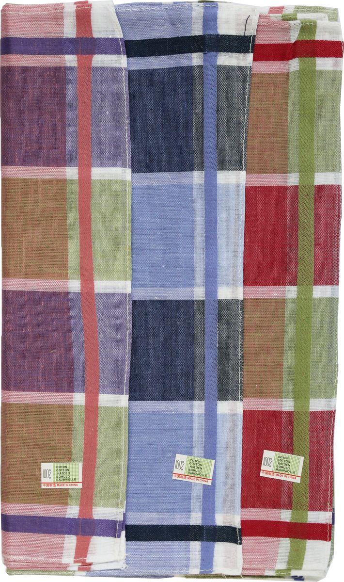 Платок носовой женский Zlata Korunka, цвет: мультиколор, 3 шт. 45471-3. Размер 27 см х 27 см45471-3