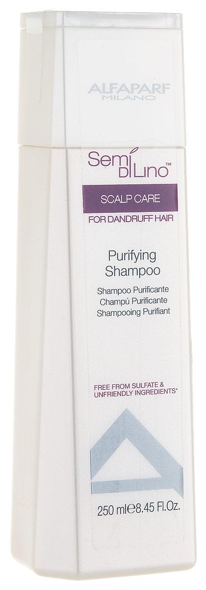 Alfaparf Semi Di Lino Scalp Puryfining Shampoo Очищающий шампунь, 250 мл10030Очищающий шампунь против перхоти удаляет ороговевшие клетки и ликвидирует причину появления перхоти, предотвращая ее дальнейшее появление. Объем: 250 мл