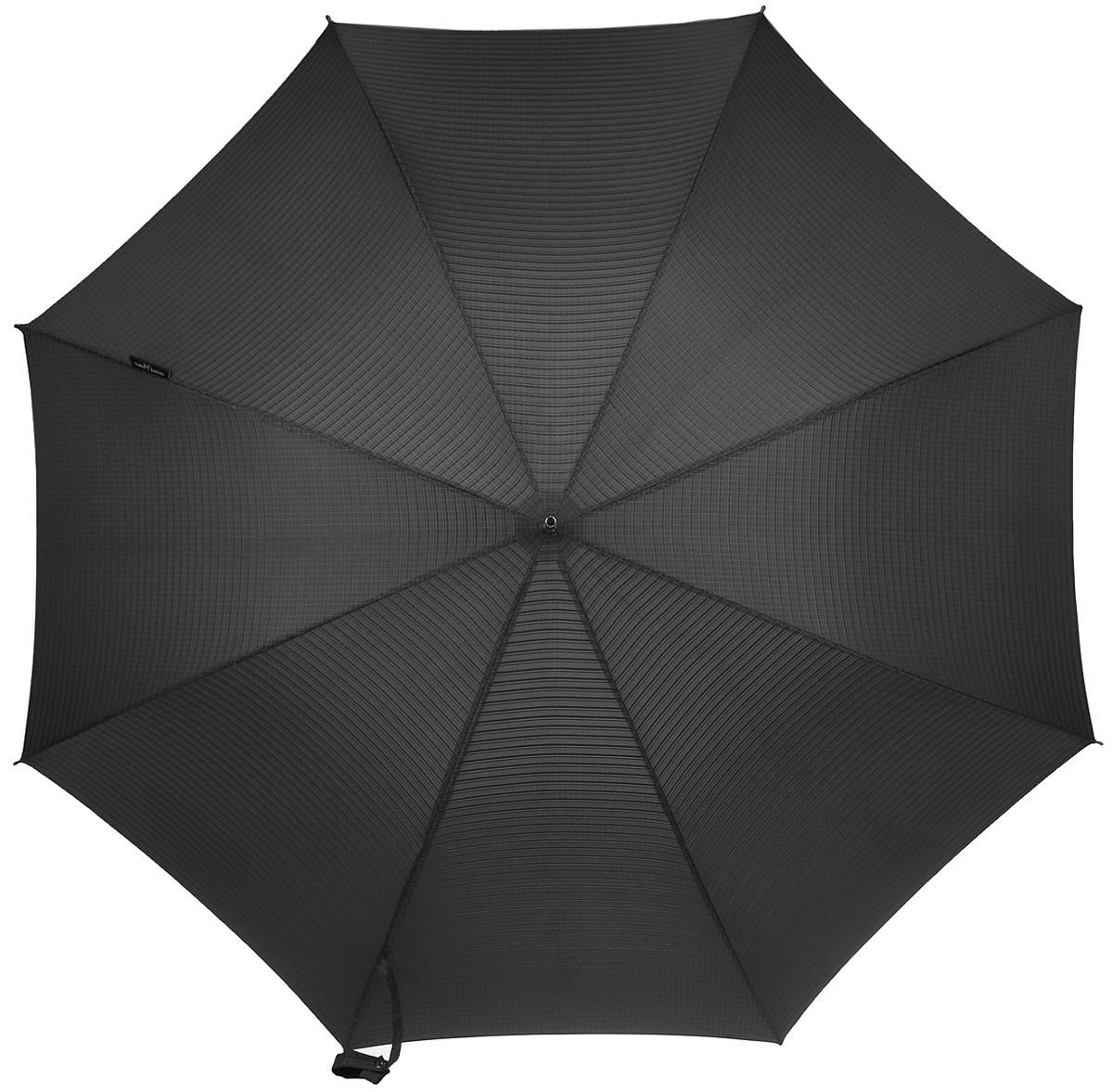 Зонт-трость Slava Zaitsev, цвет: темно-серый. SZ-042/2 autoSZ-042/2 autoЗонт-трость с дизайном В.М. Зайцева. Автоматическое открытие, спицы и шток из высококарбонистой стали. Ткань - полиэстер. Диаметр купола 105 см по нижней части. Длина в сложенном состоянии - 95 см.