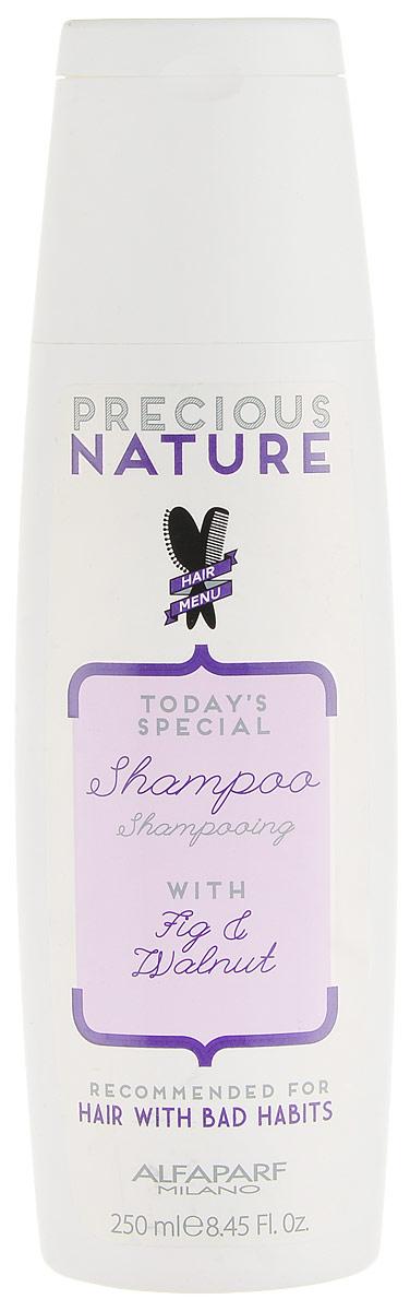 Alfaparf Precious Nature Shampoo for Bad Hair Habits Шампунь для волос с вредными привычками, 250 мл14720Бережное очищение и идеальный уход для восстановления и укрепления ослабленных, ломких волос. Волосы становятся сильными и плотными уже с первого применения. Входящий в состав экстракт инжира* сохраняет здоровье и блеск волос, а также улучшает естественную выработку коллагена. Масло грецкого ореха* способствует интенсивному питанию и укреплению волос изнутри. *100% натуральный ингредиент. НЕ СОДЕРЖИТ: сульфатов, парабенов, парафинов, минеральных масел, синтетических веществ, аллергенов *гипоаллергенные экстракты растений и ароматизаторы Объем: 250 мл