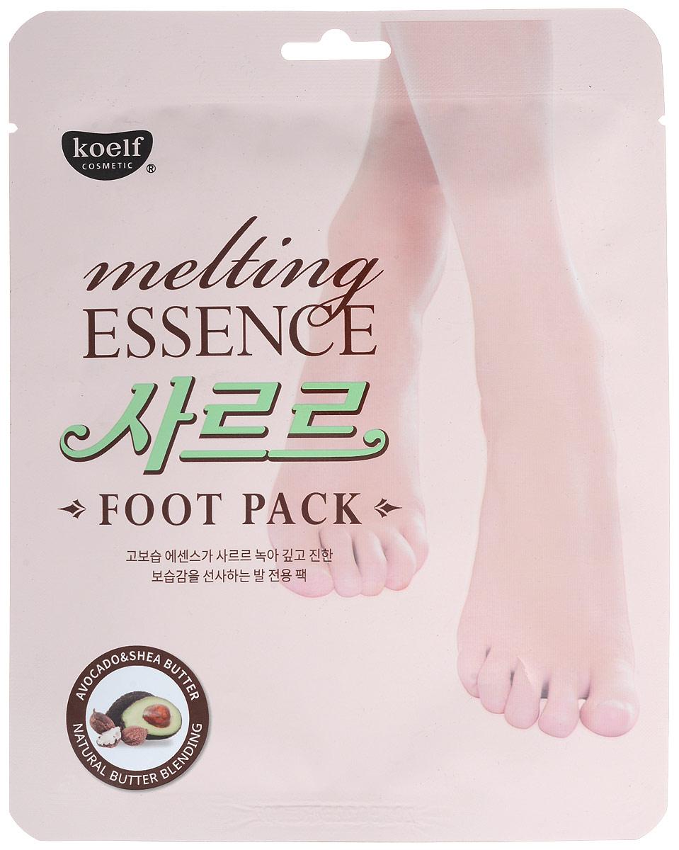 Koelf Маска-носочки для ног смягчающая Melting essence foot pack, 16 гр803367Натуральные масла, содержащие 7 растительных экстрактов, таких как масло Ши, авокадо и др. глубоко увлажняют кожу и делают ее мягкой и шелковистой. С тающим маслом активные ингредиенты глубоко проникают в кожу и увлажняют кожу ног на весь день. Мочевина, содержащаяся в составе, смягчает огрубевшую кожу и увлажняет ее. Экстракт улиточной секреции, масло чайного дерева, алоэ вера и коллаген смягчают кожу и питают ее. Маска не оставляет липкости на коже и моментально впитывается, благодаря инновационному методу обработки, текстура легко тает под воздействием температуры тела, удобна для использования в любое подходящее время. Способ применения: • Упаковка содержит пару носков со специальным слоем, который пропитан сухой эссенцией изнутри. • Для лучшего результата рекомендуется предварительно распарить в ванночке. • Вскройте упаковку и наденьте маску как носочки. • Достаточно подержать носочки 20-30 минут, затем снять и вмассировать остатки эссенции в кожу.