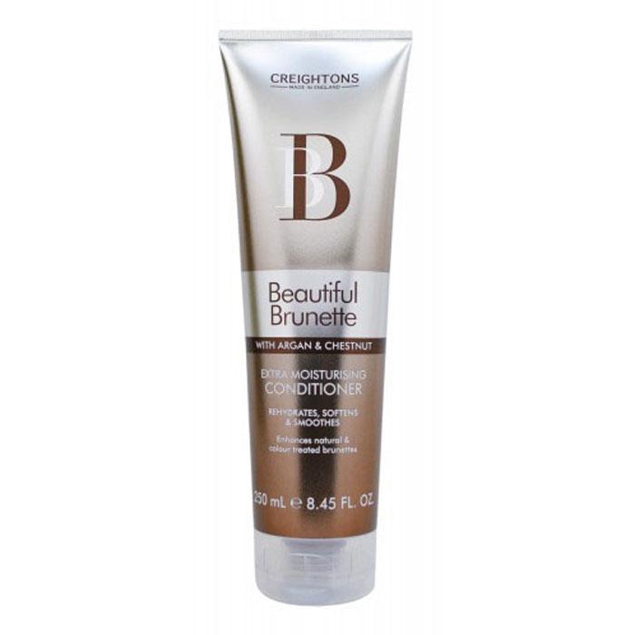 Creightons Увлажняющий кондиционер для темных волос Роскошный брюнет, 250 млBB5501Лучший способ ухода за темными волосами. В состав кондиционера входят Pro-Витамин В5, аргановое масло, экстракт каштана и солнцезащитные компоненты, которые придают окрашенным и натуральным волосам свежий вид и блеск. Подходит для оттенков Каштан, Махагон, всех коричневых и темно-коричневых оттенков волос. НЕ ОКРАШИВАЕТ ВОЛОСЫ.