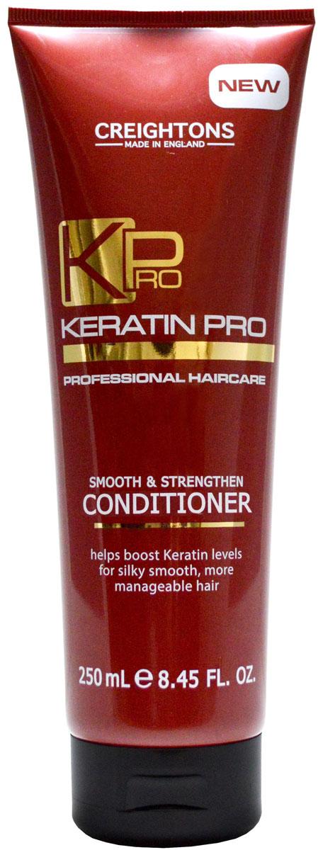 Creightons Укрепляющий и увлажняющий кондиционер для волос с кератином, 250 млCN3571Кератин Pro обеспечивает режим для ухода за волосами, который поможет укрепить волосы и восстановить их эластичность. Кондиционер глубоко питает волосы от корней до самых кончиков, борется с пушением, придает волосам блеск, делая их гладкими и легкими в укладке. Подходит для всех типов волос.