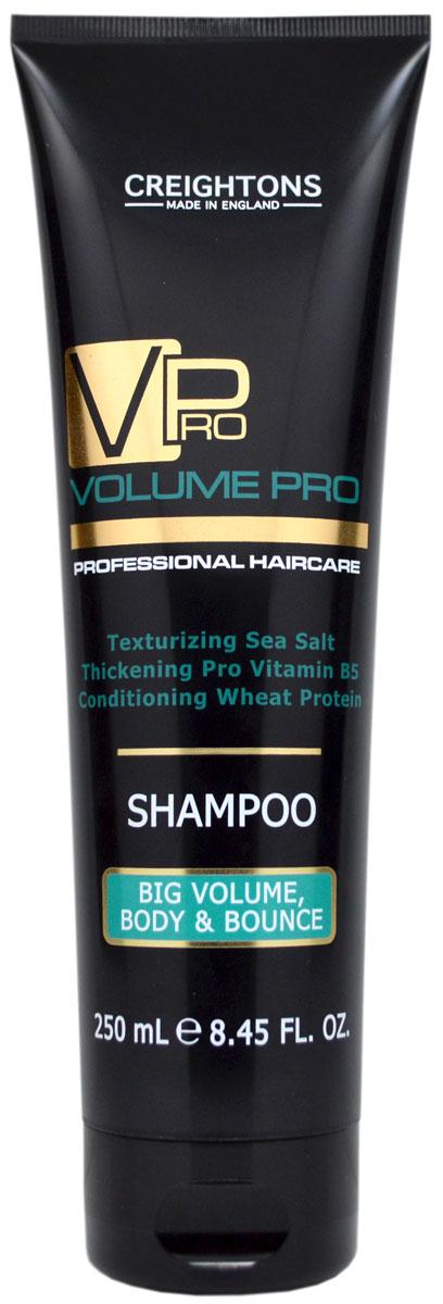 Creightons Шампунь для придания объема и упругости волосам, 250 млCN5500Мягко очищает и увлажняет волосы от корней до самых кончиков. Невесомая формула удаляет загрязнения, делая волосы объемными и упругими. Уникальное сочетание Pro Витамина B5, Морской соли и Протеина Пшеницы уплотняет структуру волоса. Придает блеск и делает волосы более объемными и упругими. Подходит для всех типов волос.