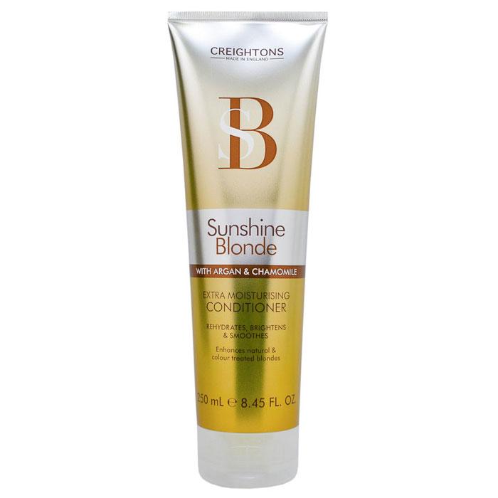 Creightons Увлажняющий кондиционер для светлых волос Солнечное сияние, 250 млSN5501Лучший способ ухода за светлыми волосами. В состав кондиционера входит Pro-Витамин В5, аргановое масло, экстракт ромашки и солнцезащитные компоненты, которые помогают продлить яркость и сияние выбранного вами оттенка. НЕ ОКРАШИВАЕТ ВОЛОСЫ.