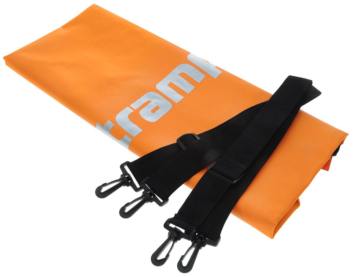 Гермомешок Tramp, цвет: оранжевый, 50 л. TRA-068TRA-068_оранжевыйГермомешок предназначен для транспортировки вещей и снаряжения на охоте, рыбалке, в туристических походах, на водных прогулках и их защиты от намокания (во время дождя или падении в воду/грязь). В сложенном виде очень компактный (поместится в карман рюкзака), имеет небольшой вес и в то же время крайне вместительный за счет 100% использования объема мешка. Материал ПВХ, из которого изготовлен мешок, прочный и 100% влагонепроницаемый. Прилагаются две съемные стропы-лямки для переноски на спине. Габаритный размеры мешка в разложенном виде: 70 х 32 см. Материал - ПВХ 500D, 580 гр/м.кв. Объем: 50 л.