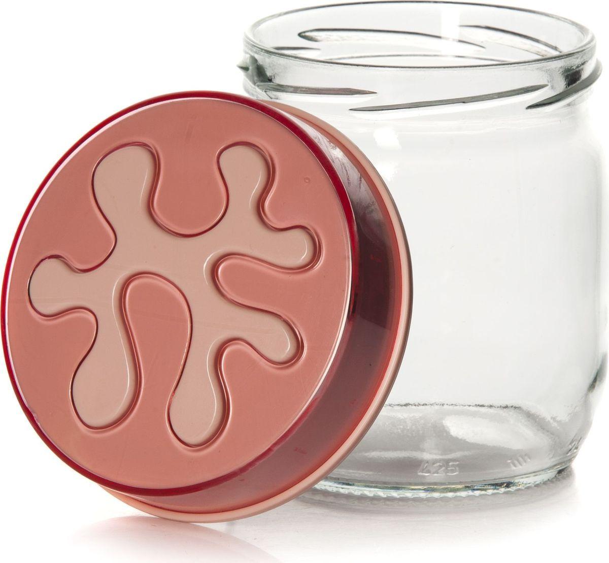 Банка для сыпучих продуктов Pasabahce, 425 мл. 135357-500135357-500Емкость прозрачная с цветной крышкой, V=425 мл, 90*90*100 мм