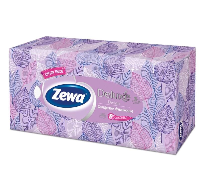 Салфетки бумажные косметические Zewa Deluxe, 90 шт, цвет: сиреневый28420_сиреневыйБумажные салфетки Zewa COTTON TOUCH® произведены с добавлением натуральных волокон хлопка и одновременно сочетают в себе мягкость и прочность. Они деликатно и нежно заботятся о Вашей коже и дарят незабываемые ощущения прикосновения хлопка. Бумажные салфетки Zewa в коробочках с ярким дизайном станут незаменимыми помощниками дома или на работе. Они спасут не только во время простуды, но и в повседневных делах, когда нужно вытереть руки или лицо, поправить макияж. Белые 3-х слойные носовые платки без аромата. 5 разных дизайнов коробок. 90 платков в коробке. Состав: целлюлоза, волокна хлопка. Производство: Россия.