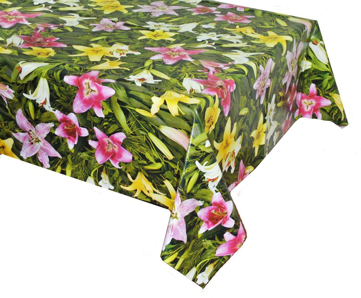Столовая клеенка LCadesi Florista, прямоугольная, 100 х 140 см. FL100140-081-00FL100140-081-00Столовая клеенка Florista с ярким дизайном украсит ваш стол и защитит его от царапин и пятен. Благодаря основе из нетканого материала не скользит по столу. Клеенка не имеет запаха и совершенно безопасна для человека.