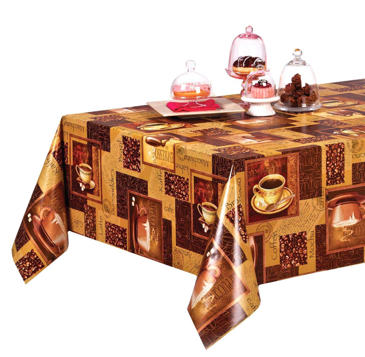 Столовая клеенка LCadesi Florista, прямоугольная, 140 х 200 см. FL140200-004-00FL140200-004-00Столовая клеенка Florista с ярким дизайном украсит ваш стол и защитит его от царапин и пятен. Благодаря основе из нетканого материала не скользит по столу. Клеенка не имеет запаха и совершенно безопасна для человека.