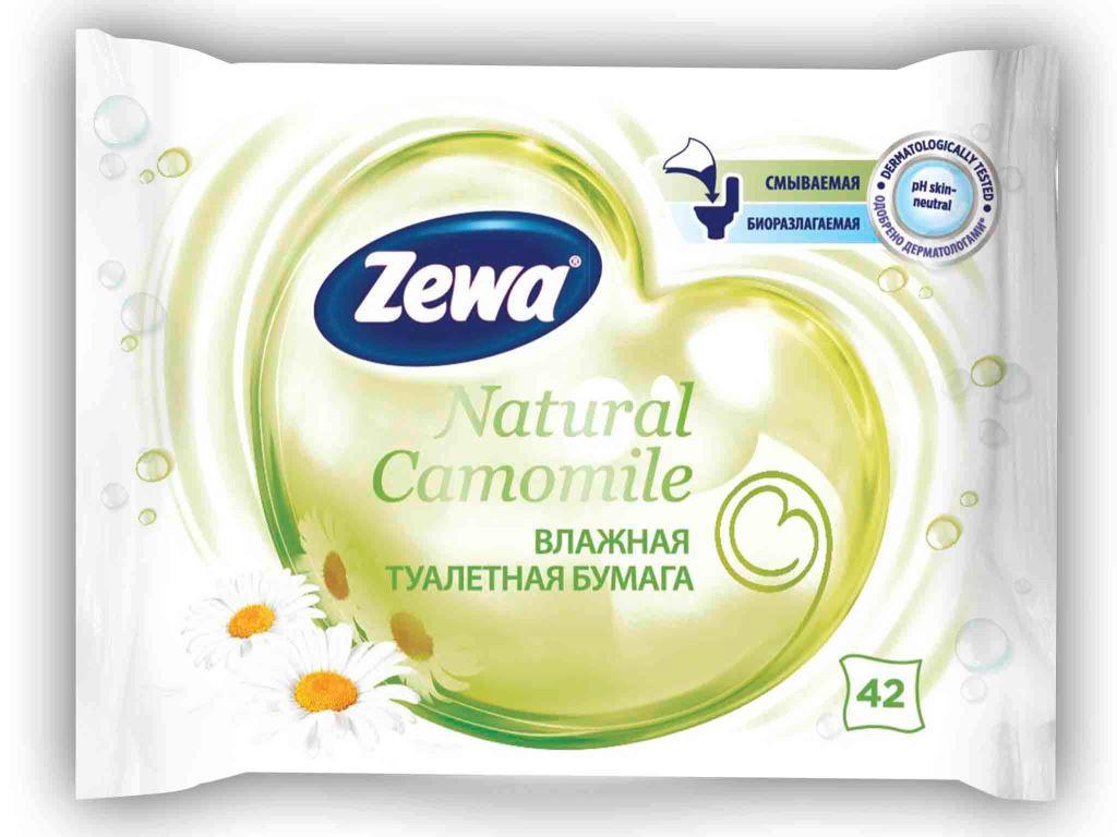 Бумага туалетная Zewa Natural Camomile, влажная, 42 листа6786Влажная туалетная бумага Zewa подарит вам ощущение чистоты и свежести. Она обеспечивает мягкое очищение, растворяется в воде и разлагается в природных условиях. Белая влажная туалетная бумага без аромата с натуральными экстрактами ромашки 42 мягких влажных листка в упаковке Производство: Великобритания Смываемая, биоразлагаемая, одобрена дерматологами, PH-нейтральная для кожи