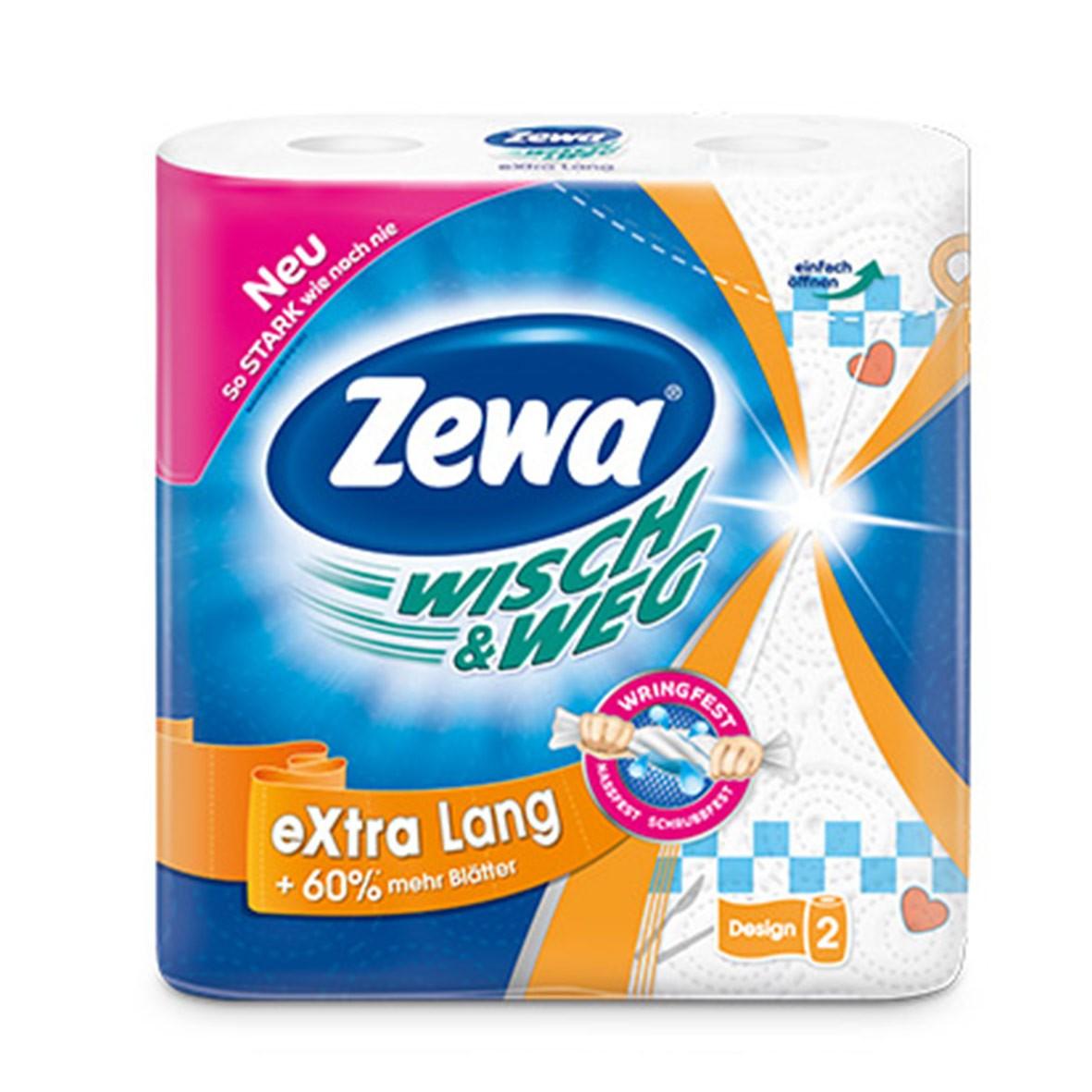 Полотенца бумажные Zewa Wish&Weg, 2 рулона42830Бумажные полотенца с рисунком от ZEWA – это яркий стиль жизни. Два плотных слоя прочных полотенец обеспечивают легкое удаление сухих и влажных загрязнений. Благодаря красочному дизайну они поднимают настроение и украшают ваш дом. Белые 2-х слойные прочные бумажные полотенца с цветным рисунком 2 рулона в упаковке Состав: целлюлоза Производство: Германия