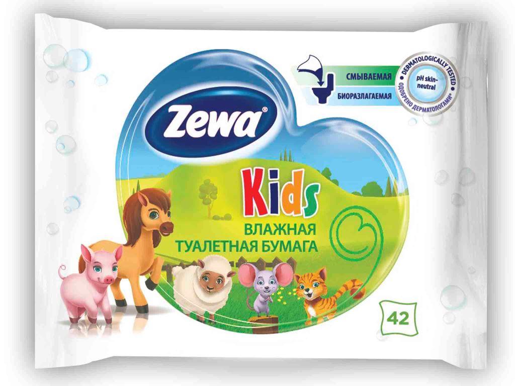 Влажная туалетная бумага Zewa Kids, 42 шт6787Влажная туалетная бумага Zewa подарит вам ощущение чистоты и свежести. Она обеспечивает мягкое очищение, растворяется в воде и разлагается в природных условиях. Белая влажная туалетная бумага с нежным свежим ароматом 42 мягких влажных листка в упаковке Производство: Великобритания Смываемая, биоразлагаемая, одобрена дерматологами, PH-нейтральная для кожи