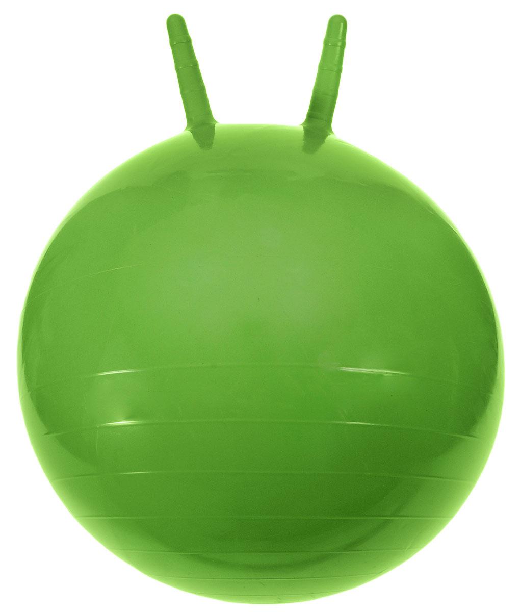 МалышОК! Мяч Прыгун с рожками цвет зеленый 50 см