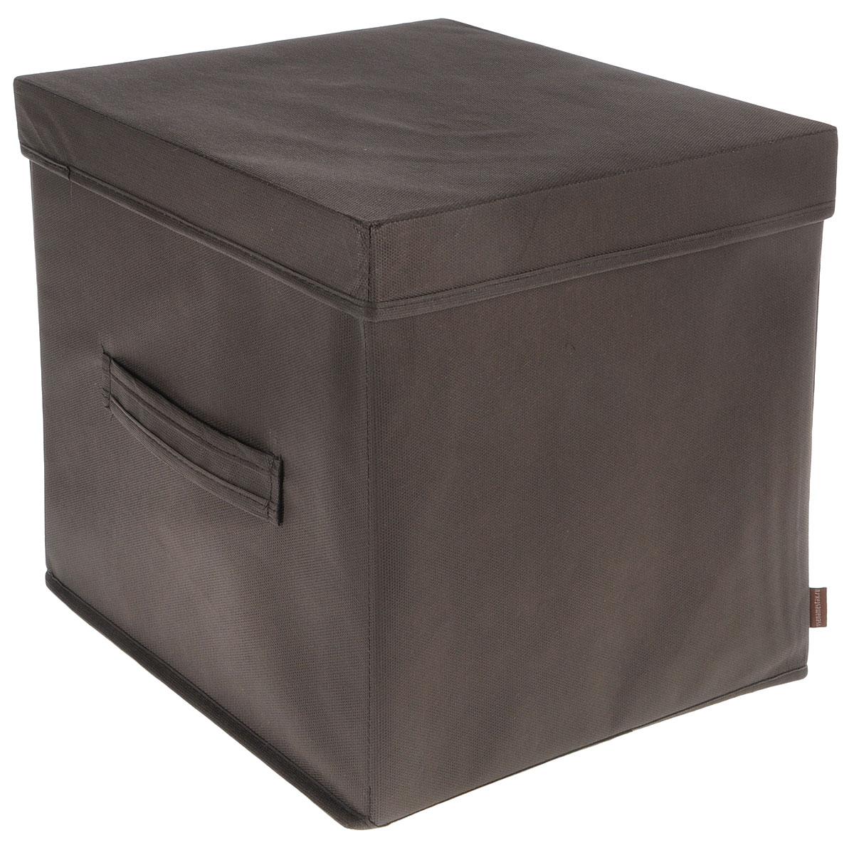 Коробка для вещей и игрушек Все на местах Minimalistic, с крышкой, цвет: коричневый, 30 x 30 x 30 см1015036Коробка с крышкой Minimalistic выполнена из высококачественного нетканого материала, который обеспечивает естественную вентиляцию и предназначен для хранения вещей или игрушек. Он защитит вещи от повреждений, пыли, влаги и загрязнений во время хранения и транспортировки. Размер коробки: 30 х 30 х 30 см.