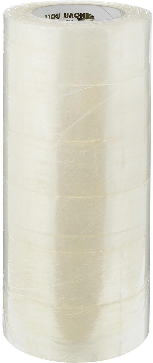 Скотч упаковочный Nova Roll, цвет: прозрачный, ширина 4,8 см, длина 150 м, 6 штСКЧ07771Упаковочный скотч Nova Roll используется для склеивания предметов вместе, а также для защитного или декоративного покрытия предметов. Изделие имеет высокую прочность. В комплект входит 6 рулонов скотча. Длина ленты: 150 м. Ширина: 4,8 см.