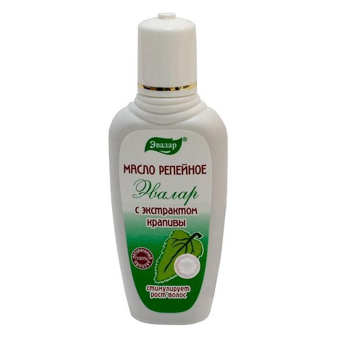 Эвалар Масло репейное с крапивой 100 мл (стимулирует рост волос)4602242002253Масло репейное с крапивой изготовлено на основе экстракта корней лопуха и крапивы двудомной. Обогащено дополнительным комплексом витаминов, в том числе витамином К, каротиноидами, фито- и ситостеринами, а главное — хлорофиллом, который, аналогично своему действию в растениях, является важным «строительным материалом» и питательным веществом для корней волос, способствуя их укреплению и усилению роста.