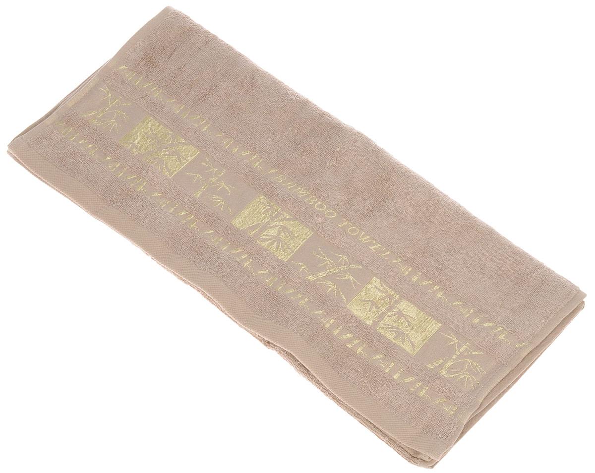 Полотенце Brielle Bamboo Gold, цвет: мокко, 50 х 90 см1212Полотенца ТАС Приятно удивляют и дают возможность почувствовать себя творцом окружающего декора. Махровая ткань – официальное название «фроте», народное – «махра». Фроте – это натуральная ткань, поверхность которой состоит из ворса (петель основных нитей). Ворс может быть как одинарным (односторонним), так и двойным (двусторонним).