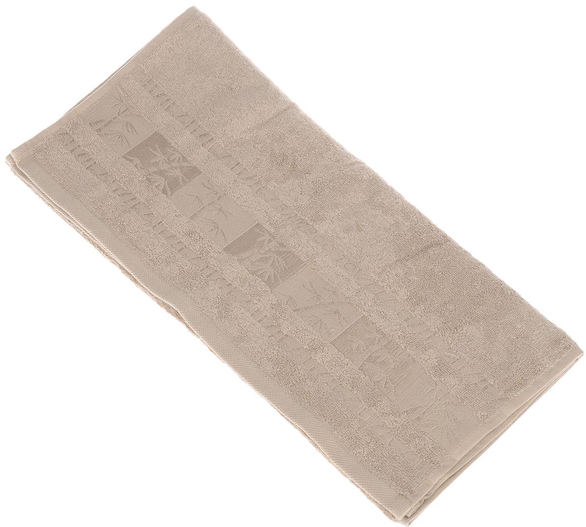 Полотенце Brielle Bamboo, цвет: мокко, 50 х 90 см1212Полотенца ТАС Приятно удивляют и дают возможность почувствовать себя творцом окружающего декора. Махровая ткань – официальное название «фроте», народное – «махра». Фроте – это натуральная ткань, поверхность которой состоит из ворса (петель основных нитей). Ворс может быть как одинарным (односторонним), так и двойным (двусторонним).
