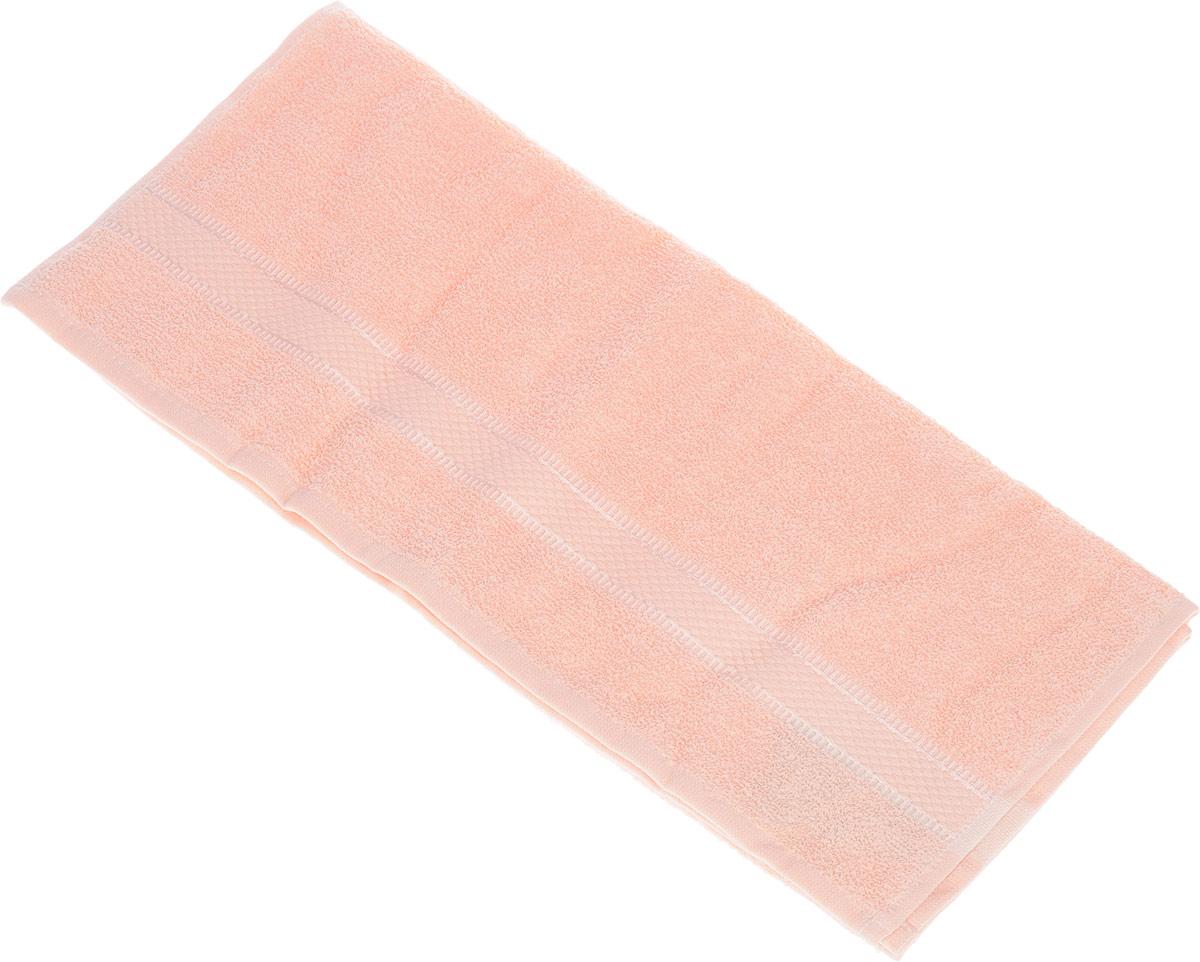 Полотенце Brielle Basic, цвет: персиковый, 50 х 85 см1209Полотенца ТАС Приятно удивляют и дают возможность почувствовать себя творцом окружающего декора. Махровая ткань – официальное название «фроте», народное – «махра». Фроте – это натуральная ткань, поверхность которой состоит из ворса (петель основных нитей). Ворс может быть как одинарным (односторонним), так и двойным (двусторонним).