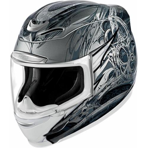 Мотошлем Icon Airmada Sportbike SB1, цвет: серый металлик. 0101. Размер XS0101-6041Отличное сочетание функциональности и стиля. Этот шлем прекрасно подойдет как для городской езды, так и для спортивных заездов на треке. За основу взят литойполикарбонатный корпус. С точки зрения аэродинамики, посадки, вентиляции и комфорта – это совершенно новая модель шлема. Вентиляция так же была улучшена. Теперь у нас 7 каналов для впуска свежего воздуха, и 6 портов для выпуска. Как и в предыдущих моделях, мы имеем каналы в ротовой области, а так же два боковых порта, которые регулируются в нескольких положениях с внутренней стороны шлема. Выше имеется десятимиллиметровый двойной канал, который, как и прежде удобно контролировать – в закрытом или открытом положении. И одна из новинок находится поблизости – двойной регулировочный порт, который в дополнение ко всем предыдущим, направляет потоки свежего непосредственно на лобную часть водителя. Соответственно, горячий воздух выходит через задние порты - два сверху, два по бокам и два с нижней стороны. Еще одним нововведением является...