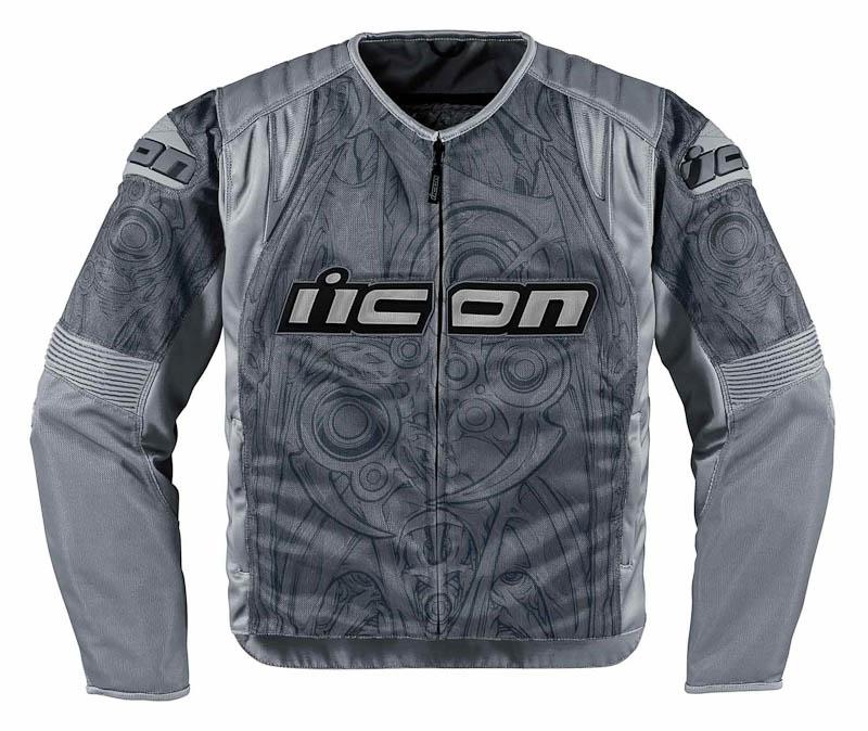 Мотокуртка Icon Icon Overlord Sportbike SB1, цвет: серый. Размер L2820-2341