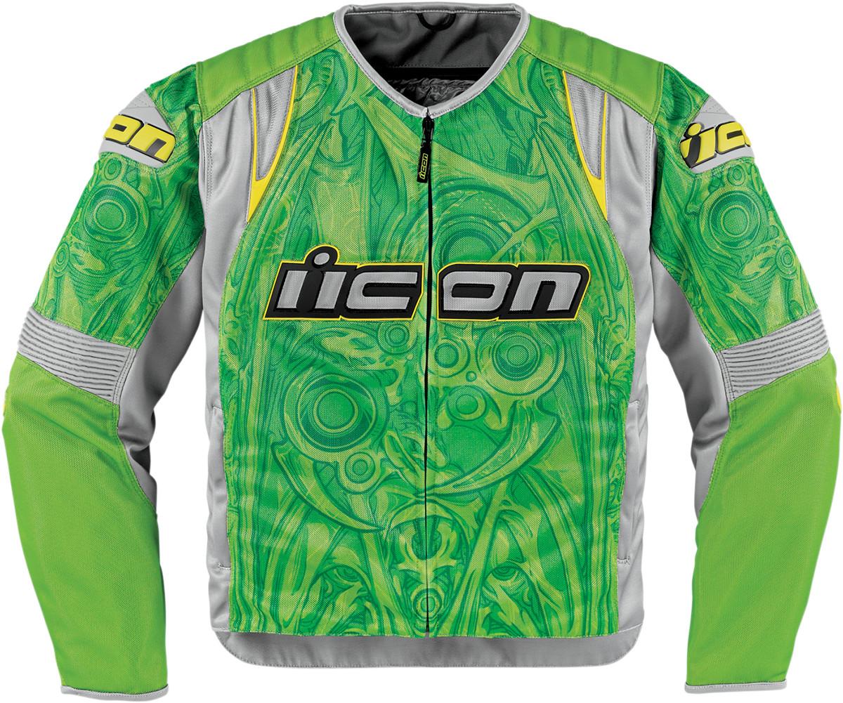 Мотокуртка Icon Icon Overlord Sportbike SB1, цвет: зеленый. Размер M2820-2347