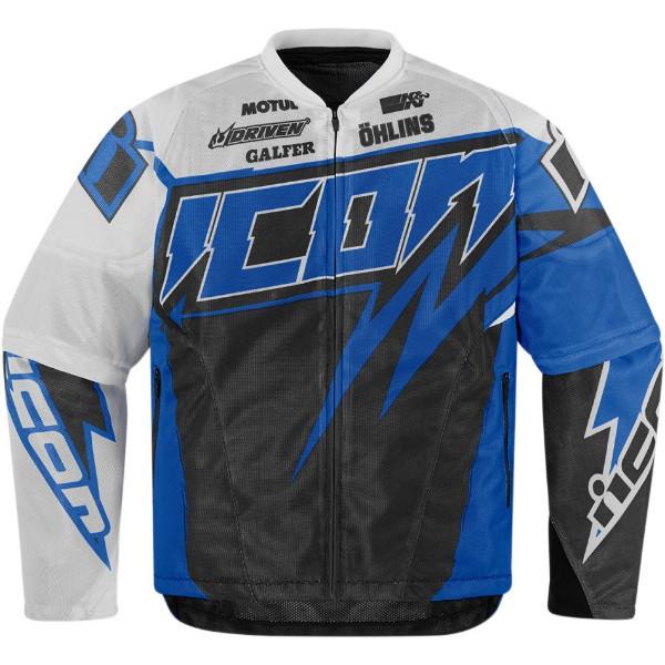 Мотокуртка Icon Icon Spaztyk Street Jersey, цвет: синий. Размер S2820-2948