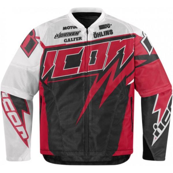 Мотокуртка Icon Icon Spaztyk Street Jersey, цвет: красный. Размер S2820-2960