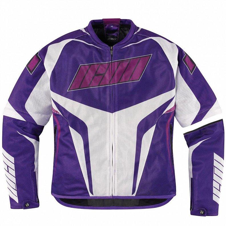 Мотокуртка женская Icon Icon Hooligan, цвет: фиолетовый. Размер S2822-0569
