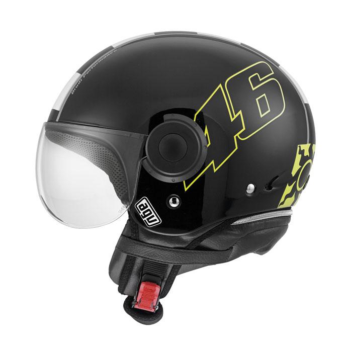 Мотошлем AGV Bali Copter Vale 46, цвет: черный. 4801A0E0. Размер M4801A0E0-001-MAGV Bali Copter Vale 46 – это шлем открытого типа (3/4), предназначенный для городской езды. Обеспечит достаточную защиту головы и комфорт в летнее время года. Популярен среди водителей мопедов, чопперов и классических крузеров.