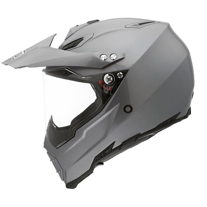 Мотошлем AGV AX-8 Dual EVO, цвет: серый металлик. 7611A4C0. Размер S7611A4C0-003-SAGV AX-8 Dual Evo – мотошлем, который можно отнести к универсальным кроссовым моделям. Используется преимущественно для эндуро и мотарда, но подойдет и для мотокросса или городской езды. Строгий, стремительный дизайн в цвете титановый серый, высокие показатели прочности и комфорта обеспечили популярность этой модели среди многих спортсменов и любителей езды по бездорожью.