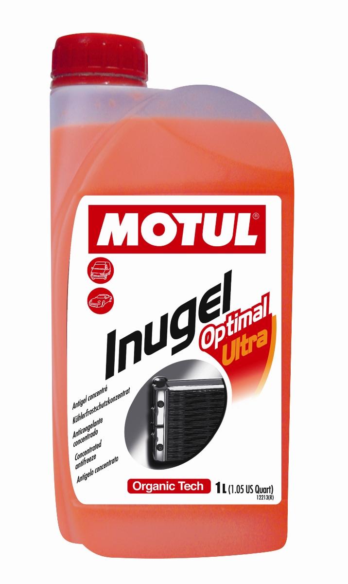 Антифриз Motul Inugel Optimal Ultra, концентрат, цвет: флуоресцентный оранжевый, 1 л101069Концентрат охлаждающей жидкости антикоррозионный, низкозамерзающий создан по органической технологии. Не содержит нитритов, аминов, фосфатов, боратов, силикатов. Motul Inugel Optimal Ultra это концентрат охлаждающей жидкости на основе моноэтиленгликоля с органическими добавками. Перед использованием его необходимо развести дистиллированной водой. Рекомендуется для всех охлаждающих систем: легковые автомобили, сложные условия эксплуатации, строительная и сельскохозяйственная техника, садовая техника, водная техника, стационарные двигатели. Одобрения: TL-774 D (G12), TL-774 F (G12+); CUMMINS IS Series & N14; CUMMINS 32-9011; JDMH5; MB 325.3; Powercool Plus; 0199-99-1115 / 0199-99-2091; NC 956-16; IVECO 18-1830; CMR 8229/WSS-M97B44-D; GM 6277M; QL 130100/GM 6277M; HES D 2009-75; Hyundai; Isuzu; Daewoo/Ssangyong; 07.892