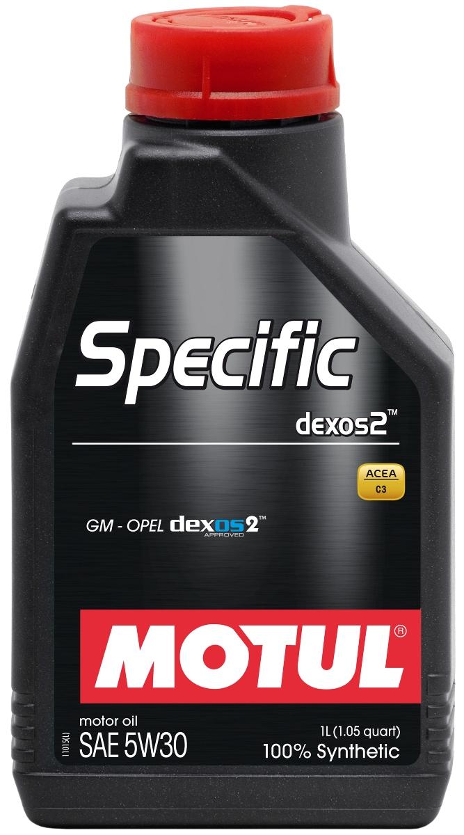 Масло моторное Motul Specific Dexos2, синтетическое, 5W-30, 1 л102638Моторное масло для бензиновых и дизельных двигателей GM-Opel. 100% синтетическое. Высокотехнологичное 100% синтетическое энергосберегающее моторное масло, специально разработано для двигателей автомобилей GM-Opel, требующих использования моторных масел, одобренных General Motors по стандарту dexos2TM. Универсальное моторное масло для большинства двигателей GM-Opel обладает высокой смазывающей способностью (высокая вязкость HTHS> 3,5 mPa.s) и энергосберегающими свойствами. Также совместимо с двигателями требующими использование моторного масла класса API SM/CF или ACEA C3. Совместимо со всеми типами топлива (бензин, дизельное топливо, биодизель, сжатый или сжиженный газ). Может быть не применимо в некоторых типах двигателей. Перед использованием необходимо ознакомиться с рекомендациями в руководстве по эксплуатации автомобиля. ACEA Стандарты: ACEA C3 API Стандарты: API PERFORMANCES SN/CF Одобрения: GM-OPEL dexos2 - License number: GB2A01020701