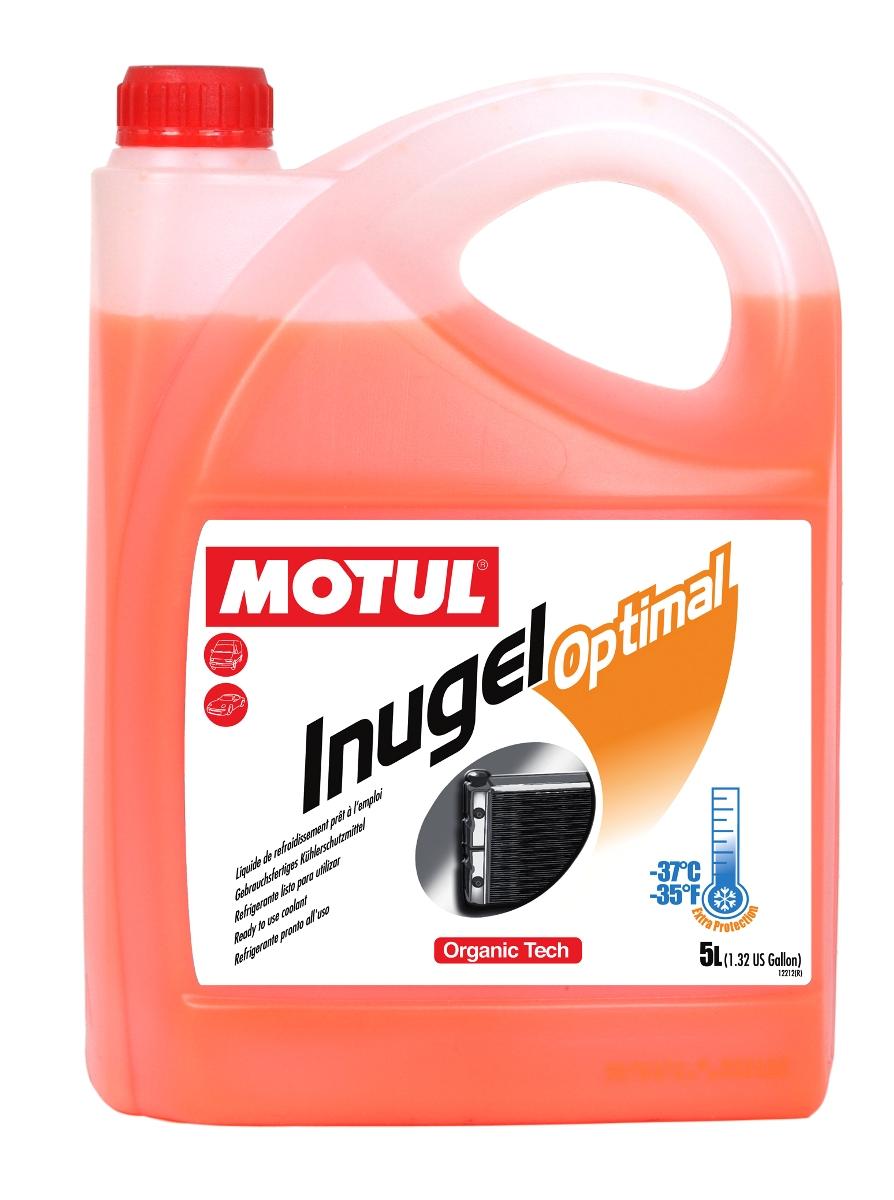 Антифриз Motul Inugel Optimal, цвет: флуоресцентный оранжевый, 5 л102924Готовая к использованию охлаждающая жидкость антикоррозионная, низкозамерзающая -37°C / -35°F. Создана по органической технологии. Не содержит нитритов, аминов, фосфатов, боратов, силикатов. Motul Inugel Optimal - это готовая к использованию охлаждающая жидкость на основе моноэтиленгликоля с органическими добавками. Рекомендуется для всех охлаждающих систем: легковые автомобили, тяжелые грузовики, строительная и сельскохозяйственная техника, садовая техника, водная техника, стационарные двигатели. Одобрения: ASTM D3306/D4656; BS 6580; KSM 2142; MB 326.3; PORSCHE/AUDI/SEAT/SKODA/VW TL-774D (=G12); TL-774F (=G12+); RENAULT RNUR 41-01-001 / --S TYPE D; FORD/JAGUAR/LAND ROVER WSS-M97B44-D; SAAB/OPEL/GM 6277M; MAZDA MEZ MN 121D; ROVER; MITSUBISHI; Jaguar
