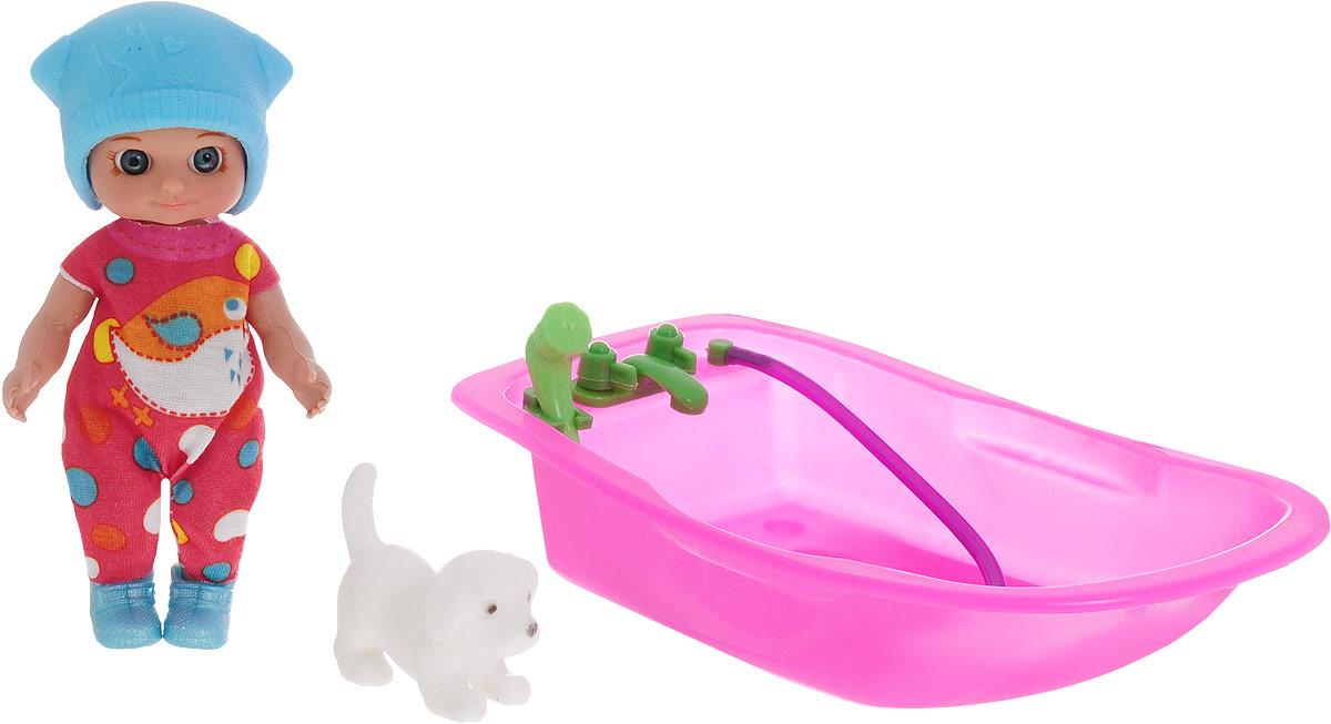 Veld-Co Пупс Изабелла с ванночкой цвет шапочки голубой