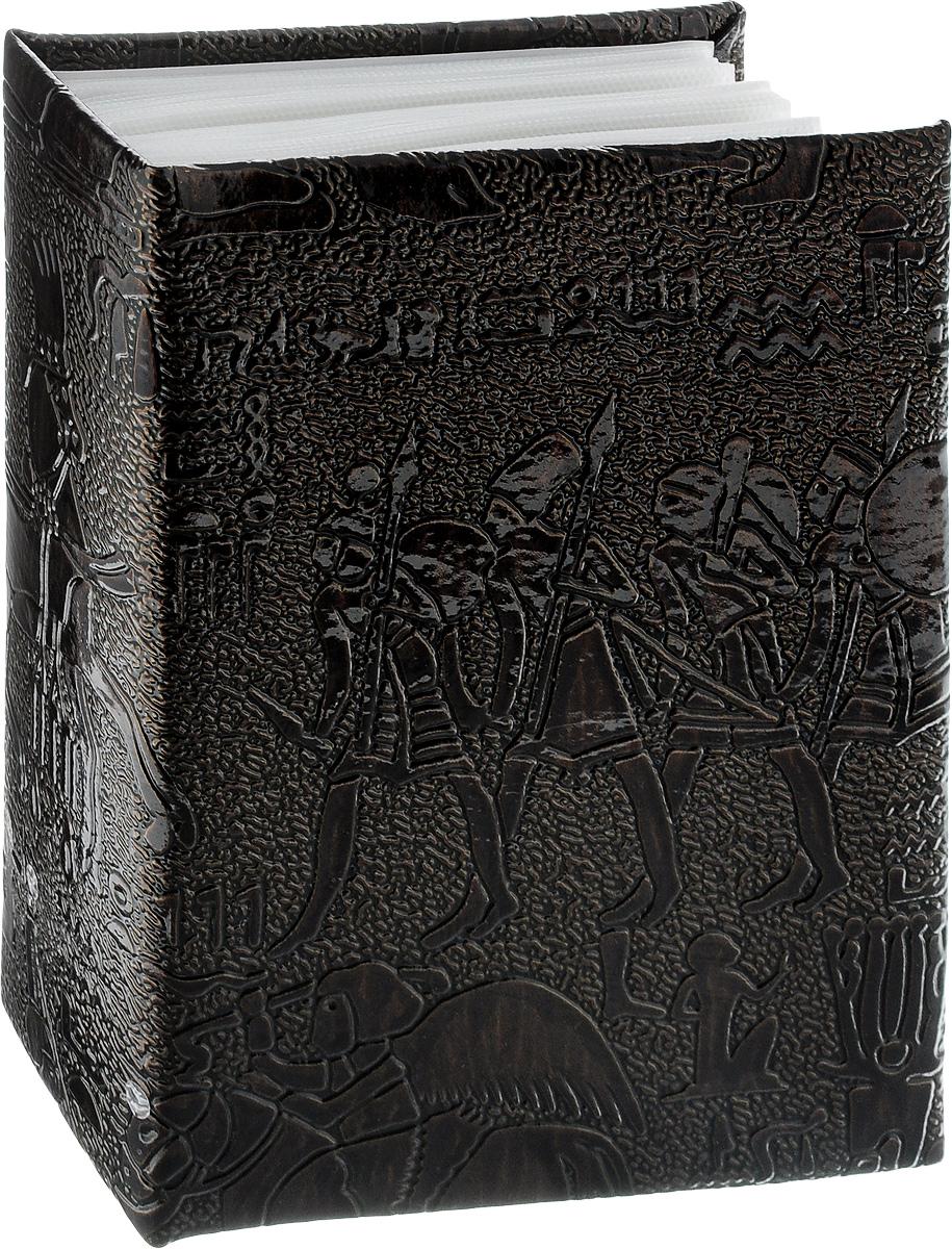 Фотоальбом Pioneer Egypt Leather, 100 фотографий, цвет: темно-коричневый, 10 x 15 см46802 PU-46100Фотоальбом Pioneer Egypt Leather поможет красиво оформить ваши самые интересные фотографии. Обложка, выполненная из делюкс материала (искусственной кожи), оформлена принтом с первобытными людьми. Внутри содержится блок из 50 белых листов с фиксаторами- окошками из полипропилена. Альбом рассчитан на 100 фотографий формата 10 х 15 см (по 1 фотографии на странице). Переплет - высокочастотная сварка. Нам всегда так приятно вспоминать о самых счастливых моментах жизни, запечатленных на фотографиях. Поэтому фотоальбом является универсальным подарком к любому празднику. Количество листов: 50.