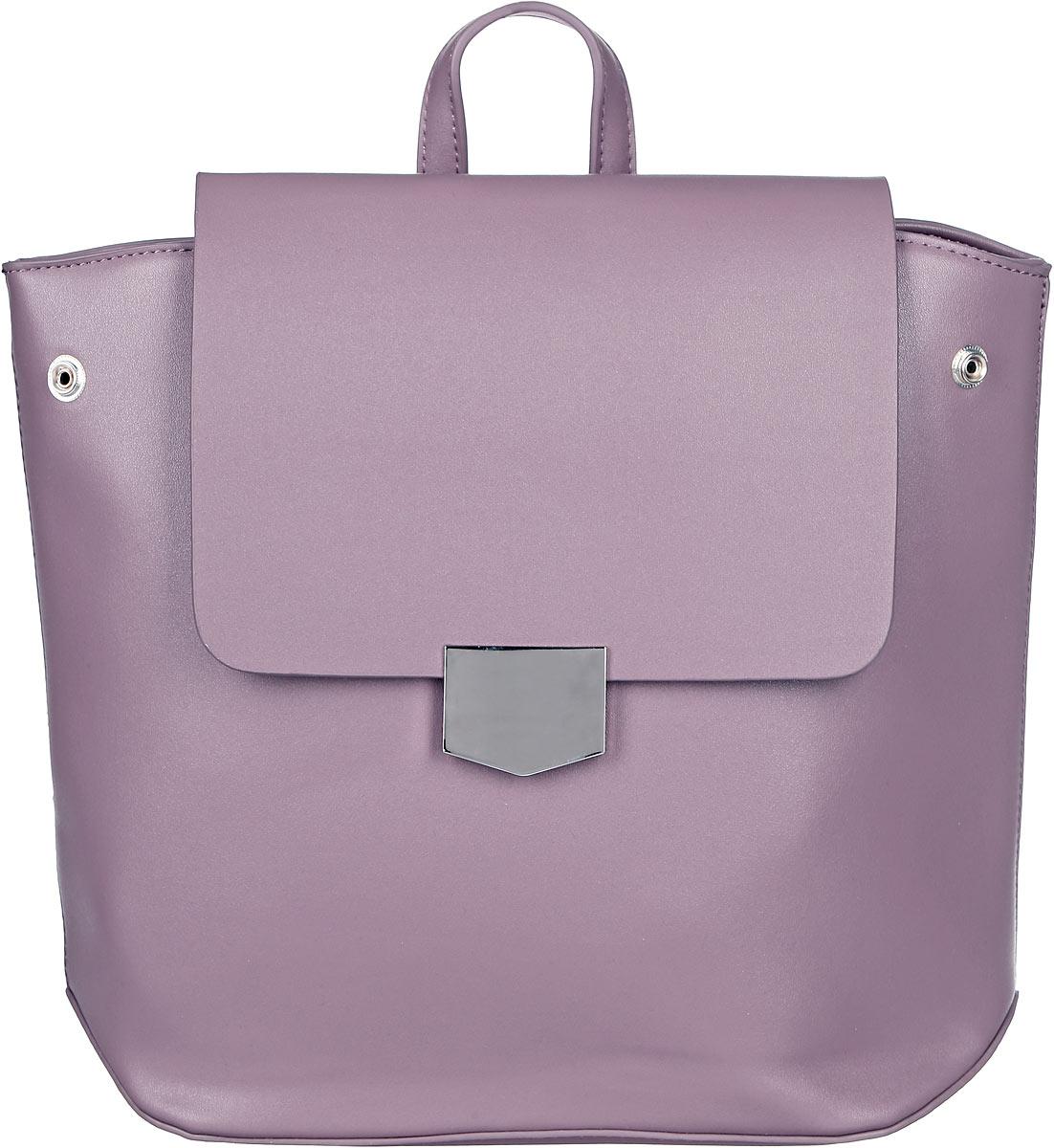 Рюкзак женский OrsOro, цвет: серо-розовый. D-262/5D-262/5Элегантный рюкзак OrsOro исполнен из экокожи высокого качества. Имеет одно вместительное отделение прикрытое клапаном на магнитной кнопке и под ним застегивающийся на молнию. Так же в отделении присутствуют два накладных кармашка под сотовый телефон или для мелочей и один прорезной карман на застежке-молнии. Рюкзак обладает удобной ручкой сверху для переноски и двумя регулируемыми плечевыми ремнями-лямками на карабинах. По бокам рюкзака имеются четыре кнопки благодаря которым можно регулировать форму рюкзака от прямоугольной до трапецевидной.