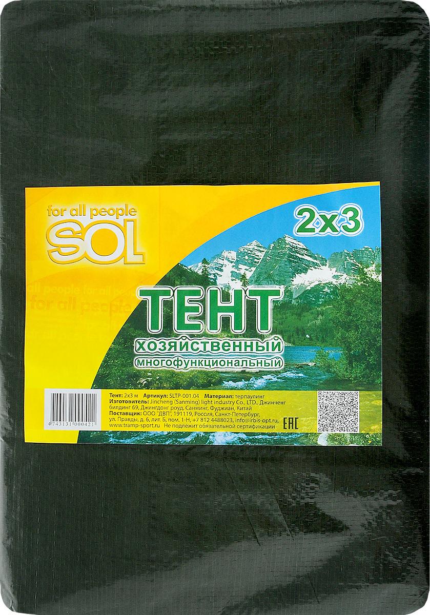 Тент терпаулинг Sol, цвет: зеленый, 2х3м. SLTP-001.04SLTP-001.04Размер: 2х3м Тенты многофункциональные изготовлены из водонепроницаемого материала. По краю пропущен усиливающий капроновый шпагат и установлены металлические люверсы. В зависимости от размера имеет как бытовое, так и промышленное назначение