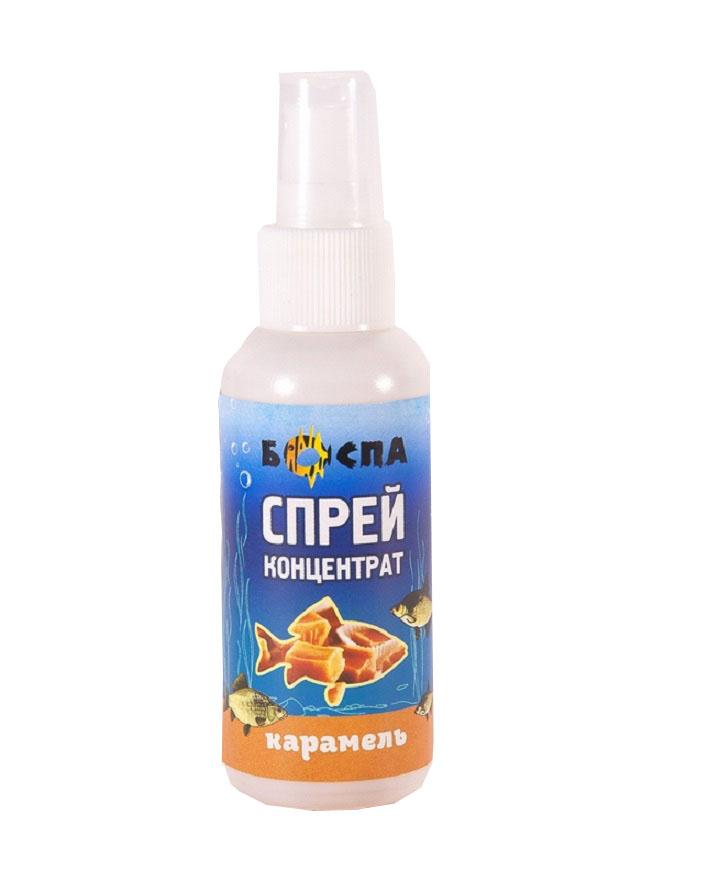 Спрей-ароматизатор для рыбалки Боспа Карамель, 50 млСпр50/КАРАроматизатор-спрей для рыбной ловли. Флакон с дозатором, для удобства применения. Распрыскивается на насадку. Разнообразная ароматика на разные виды рыб.