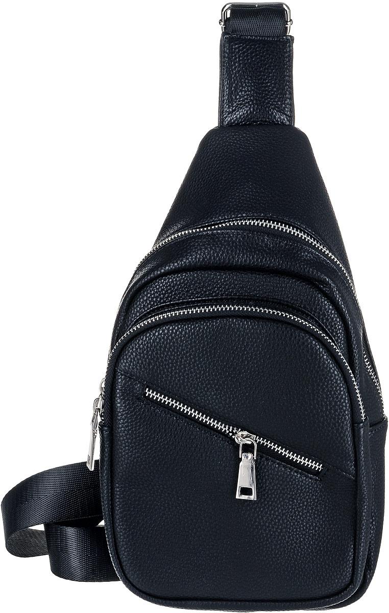 Рюкзак мужской OrsOro, цвет: черный. D-039/1D-039/1Рюкзак OrsOro выполнен из высококачественной искусственной кожи зернистой текстуры. Изделие оснащено удобным плечевым ремнем, длина которого регулируется с помощью пряжки. На лицевой стороне расположен один объемный карман и один вшитый карман на молнии. Рюкзак закрывается с помощью молнии. Внутри расположено главное отделение, которое содержит один небольшой накладной карман для мелочей.